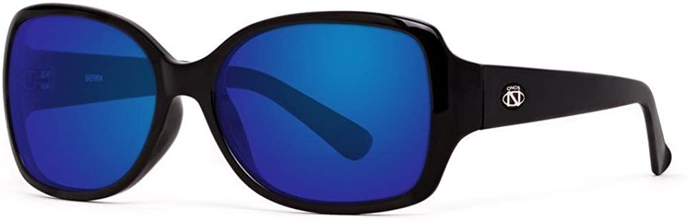 Ono's Performance Sunglas 1051313 ONO'S SIERRA POLARIZED SUNGLASSES w/BLUE MIRROR OVER GRAY BI-FOCAL READER LENS BLACK SIZE 2