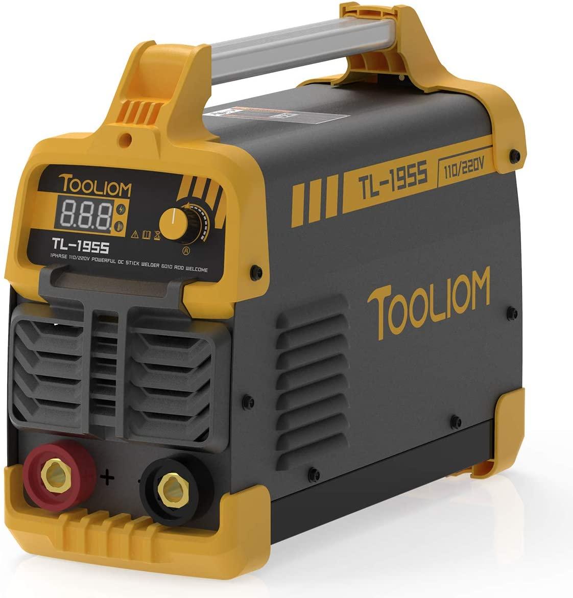 TOOLIOM 195A 120/230V Stick Welder ARC Welding Machine DC Inverter Dual Voltage MMA Welder Digital Display with 50A Adapter