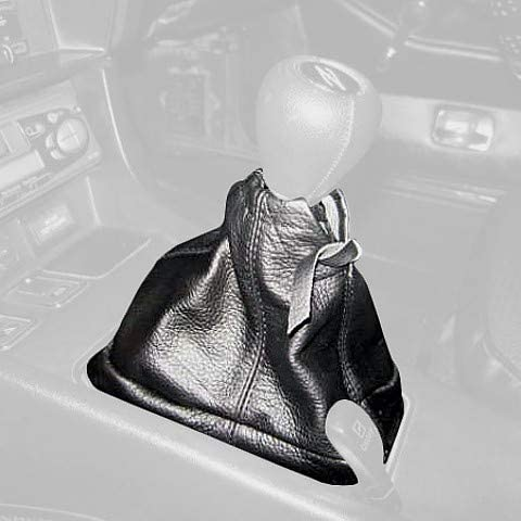 RedlineGoods Shift Boot Compatible with Datsun 240Z 1970-74. Black Leather-Black Thread