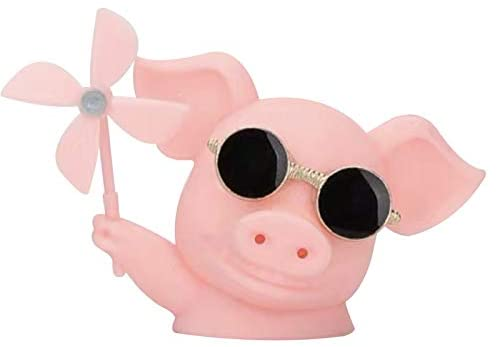 Aromatherapy Windmill Pig, Cute Pig Car Air Freshener Ornament Use for Car Air Conditioning Vent, Roof, Rearview Mirror, Engine Cover, Bicycle Head - Pink …