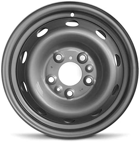 Road Ready Car Wheel For 2014-2019 Dodge Promaster 3500 Dodge Promaster 2500 Dodge Promaster 1500 16 Inch 5 Lug Gray Steel Rim Fits R16 Tire - Exact OEM Replacement - Full-Size Spare