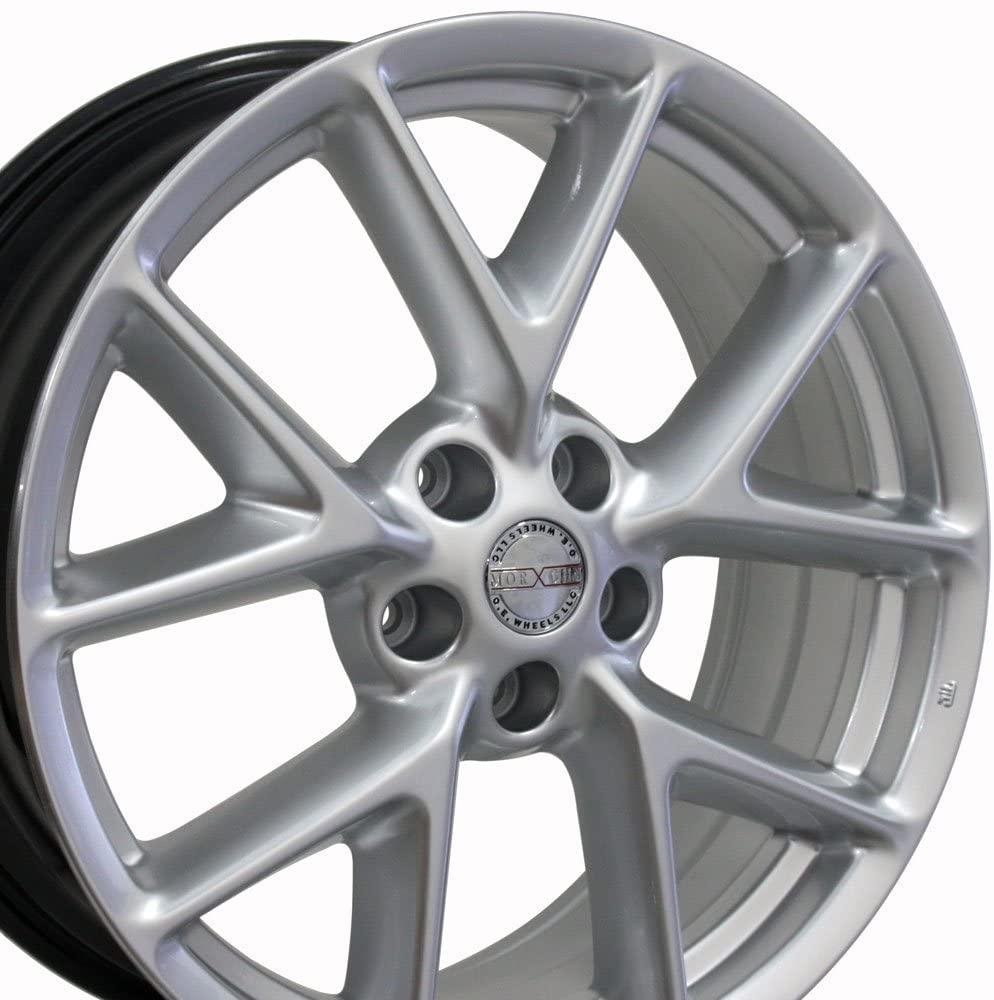 19x8 Wheel Fits Nissan, Infiniti - Nissan Maxima Style Hyper Silver Rim, Hollander 62512