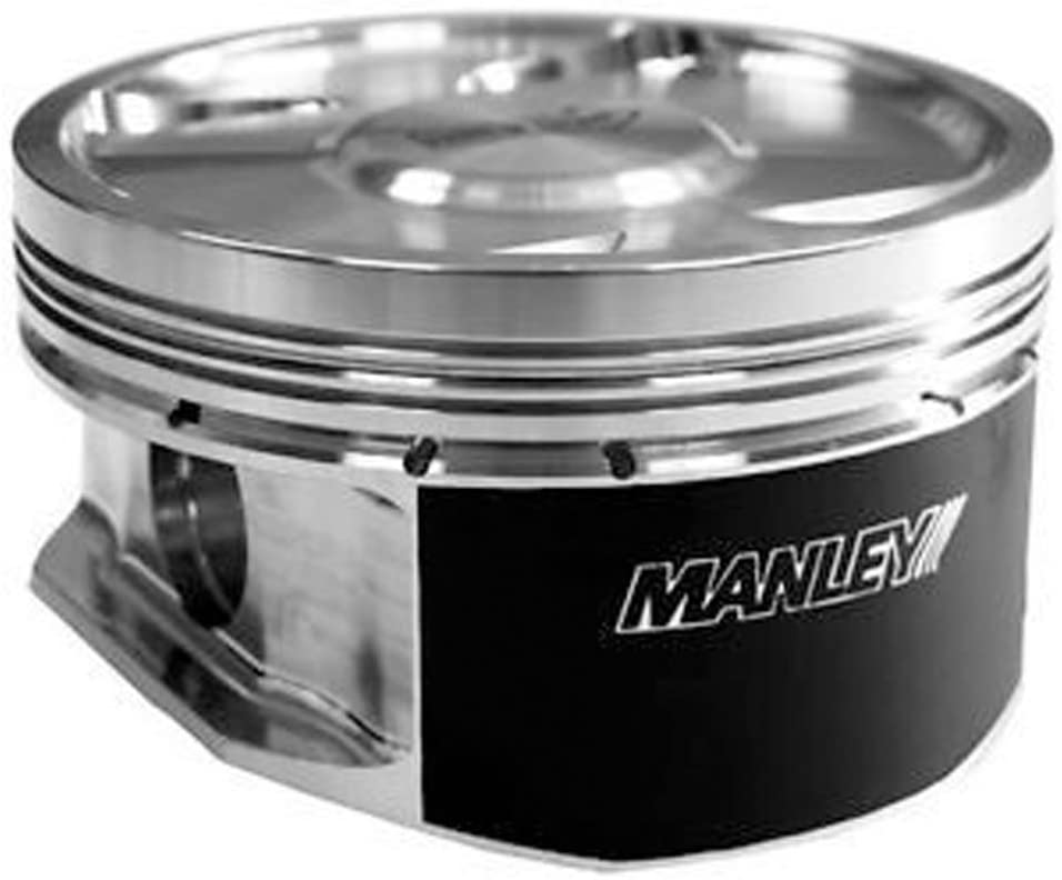 Manley 592510CE-8 Piston Kit Set (Small Block Chevrolet LS Series 4.010in Bore-4cc Flat Top Extreme Duty)