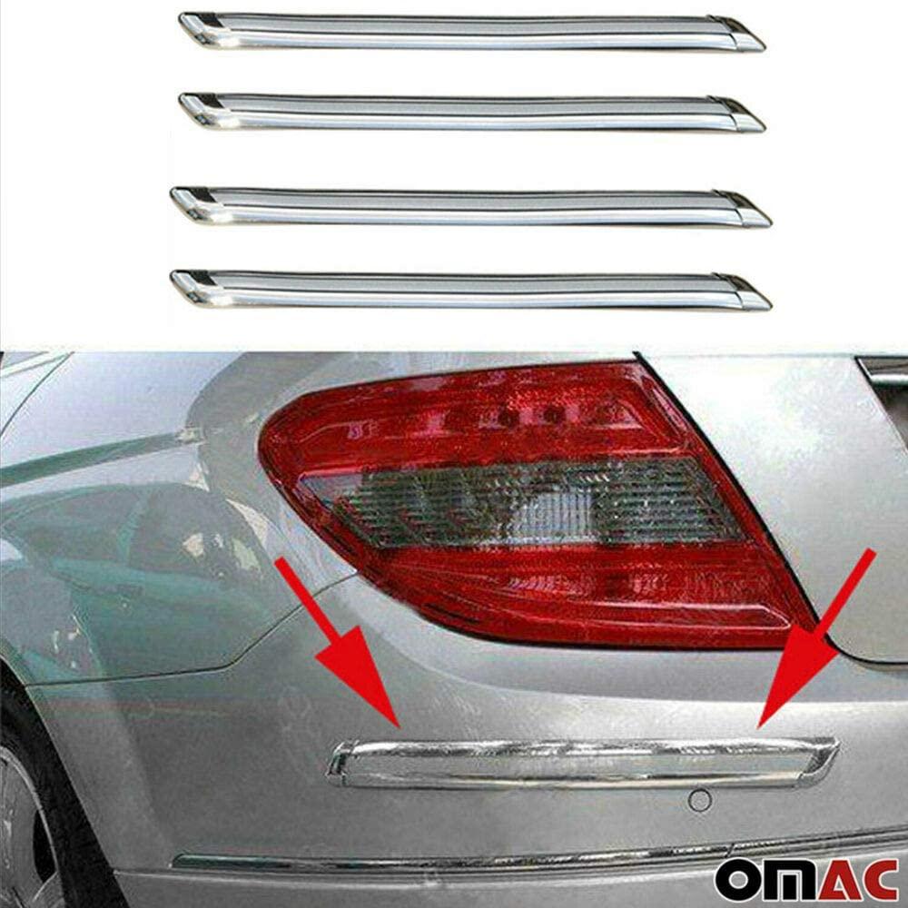 Front Rear Bumper Corner Protector Guard Trim Chrome, Compatible With Honda Pilot