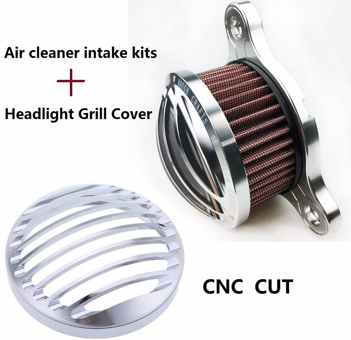 CHROME Headlight Cover + harley Air Cleaner air filter Sportster 883 xl1200 harley davidson sportster 883 04-14