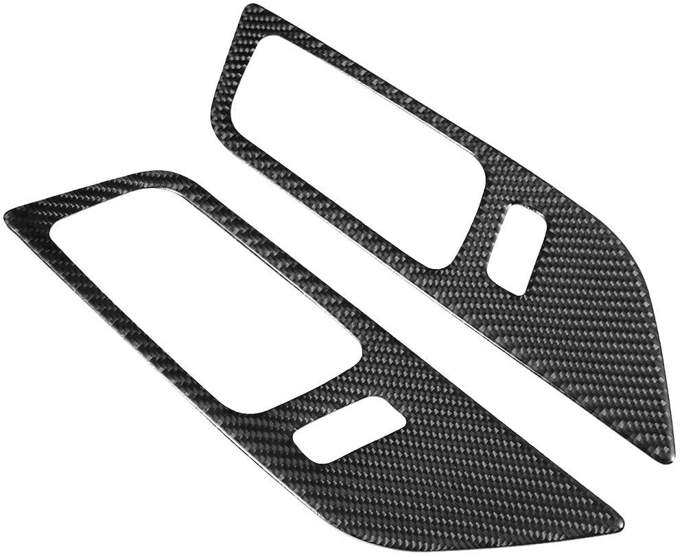 Senyar Car Door Bowl Sticker,Carbon Fiber Handle Sticker Door Bowl Decoration Accessory