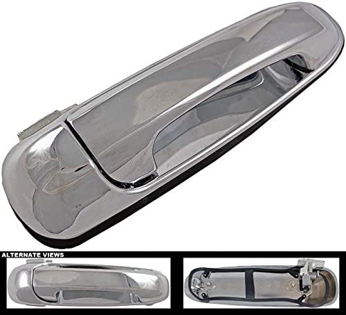 APDTY 143283 Exterior Chrome Door Handle Front Right (Passenger-Side) Fits Select Chrysler Aspen/Dodge Durango/Jeep Grand Cherokee, Liberty (Replaces QR38DX8ACCH)