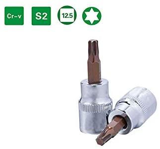 SENRISE Torx Bit Socket 1/4 3/8 T20-T50 Nut Driver Bit Star Impact Drive Torx Sockets for Industrial Automotive Repair (T50)