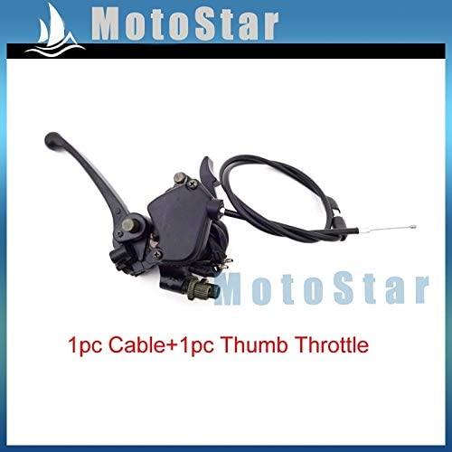 Accessories Aluminum Thumb Throttle Cable Accelerator + Handle Brake Lever for 50cc 70cc 90cc 110cc 125cc Chinese ATV Quad Kazuma Sunl