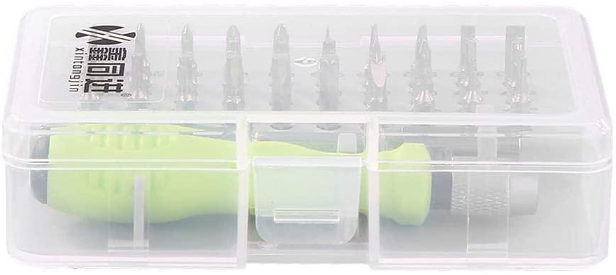 ttnight Multi-Functional Screwdriver Kits, 32 in 1 Multi-Function Magnetic Sleeve Screwdriver Set Phone Repair Tool