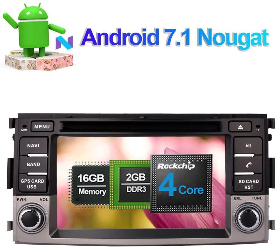 Flynavigo Android 7.1 Car Stereo CD DVD Player In Dash Car Radio Head Unit with 6.2