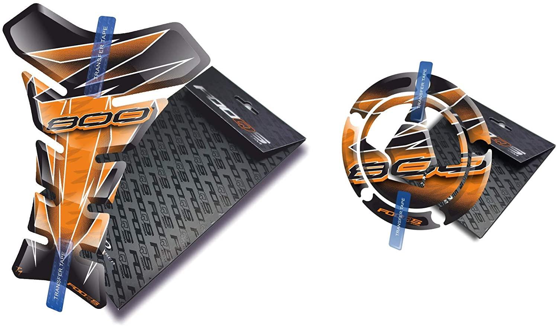 Tankpad and Cappad for Kawasaki Z800 Z 800 (Orange)