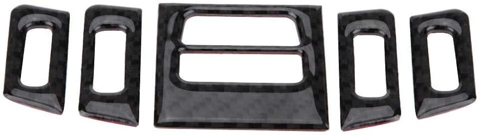 Air Conditioner Door Vent Outlet Trim,Carbon Fiber Car Interior Air Conditioner Outlet Panel Frame Cover Trim for E90/92/93(Soft)
