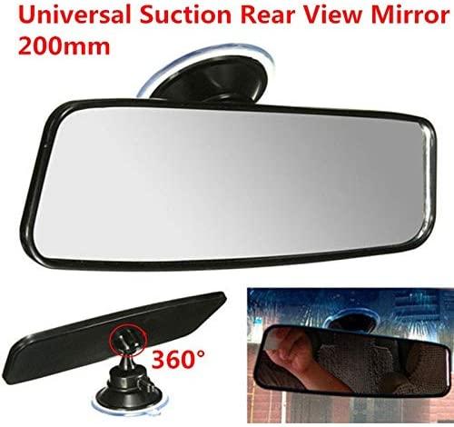 Interior Mirrors - 200mm Universal Rear View Mirror Car Interior Mirrors Flat Espejos Retrovisores Suction Inside Adjustable Rearview Mirror Glass