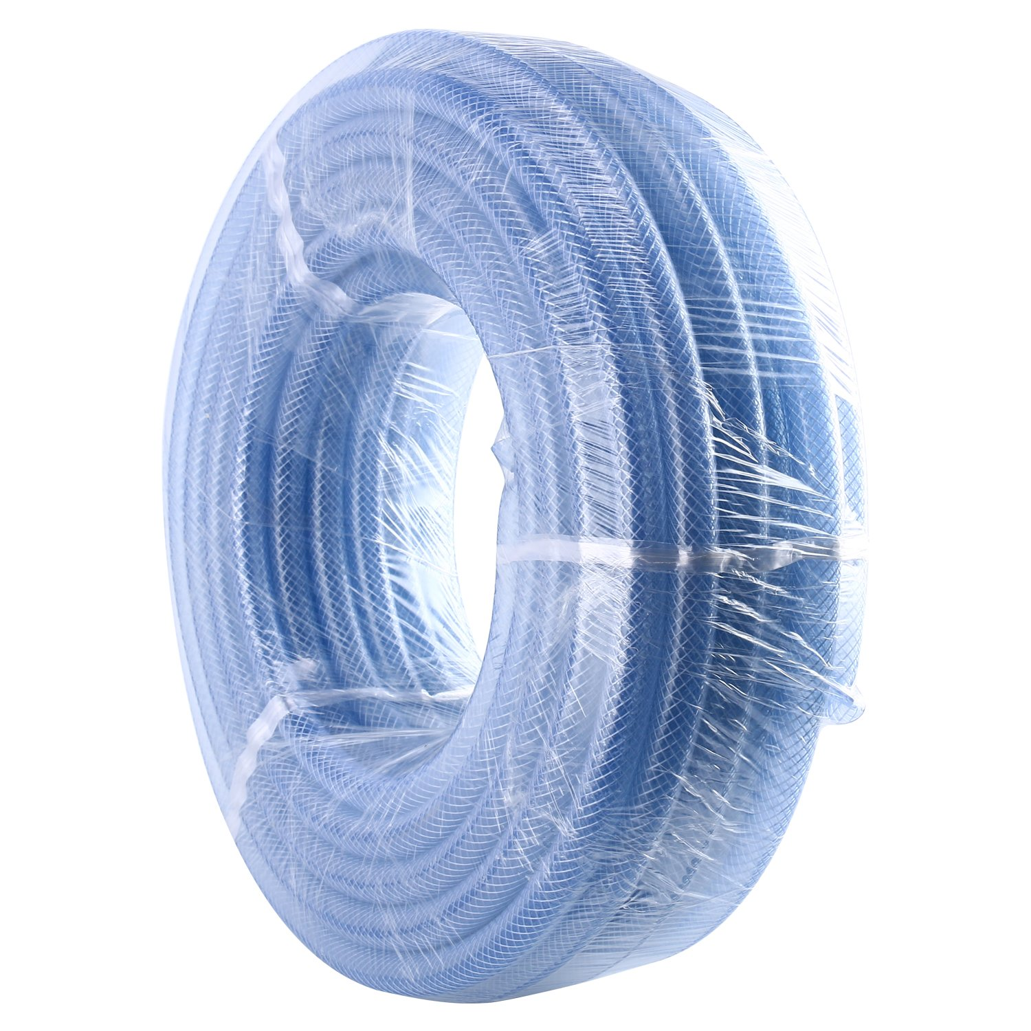 Homend High Pressure Braided Clear Flexible Industrial PVC Tubing Heavy Duty UV Chemical Resistant Vinyl Hose Water (3/8