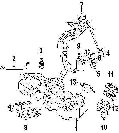 Mercedes-Benz 203 470 19 20, Fuel Tank Filler Neck