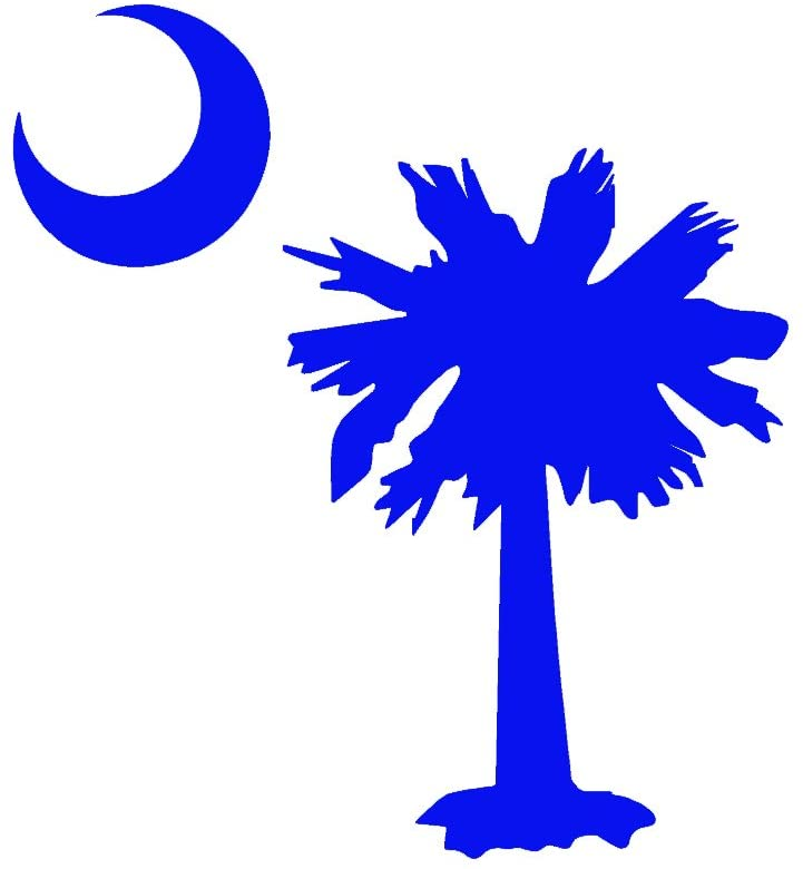 StickerDad SC Palmetto Tree Moon Vinyl Decal - Size: 5