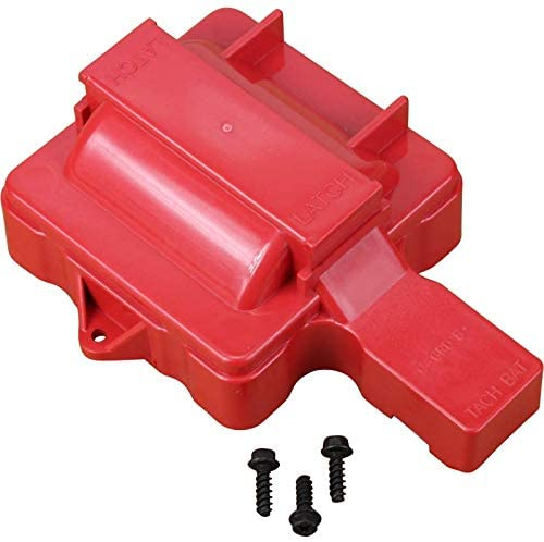 AIP Electronics Red Ignition Coil Dust Cover Compatible Replacement For V8 HEI Distributors Oem Fit CAP1026-R