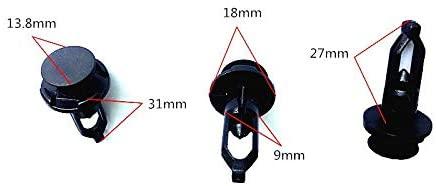 LINGYUE 100 PCS 9mm Auto Clips Nylon Bumper Fasteners Fender Rivet Clips and Fasteners Car Bumper Retainer Clips - Fits Most Models