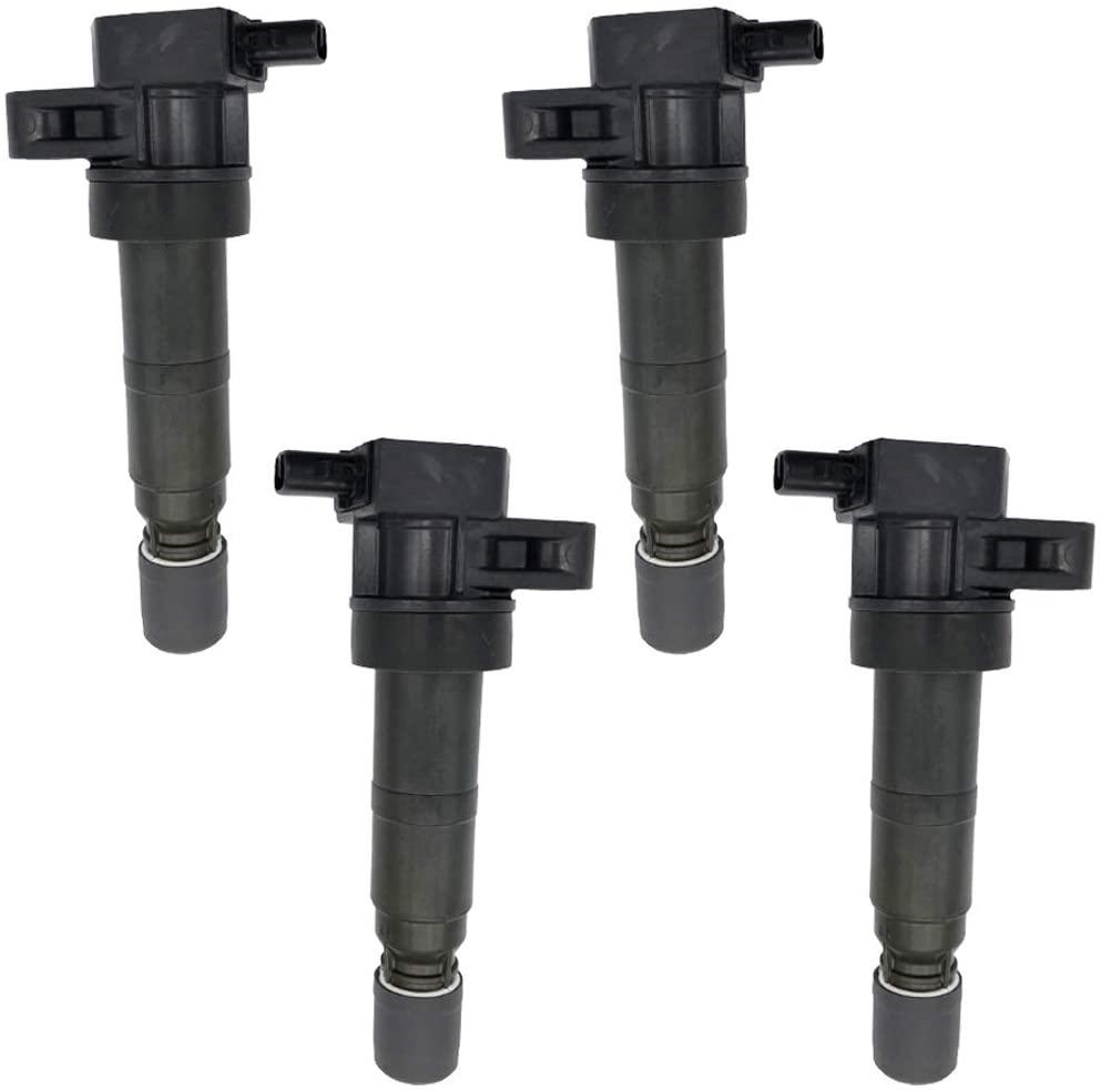 GERMBAN 27301-3C000 4Pcs Set Ignition Coils Fits for Hyundai Azera Genesis Santa Fe Kia Sedona Sorento 3.3L 3.5L 3.8L C1544 UF546