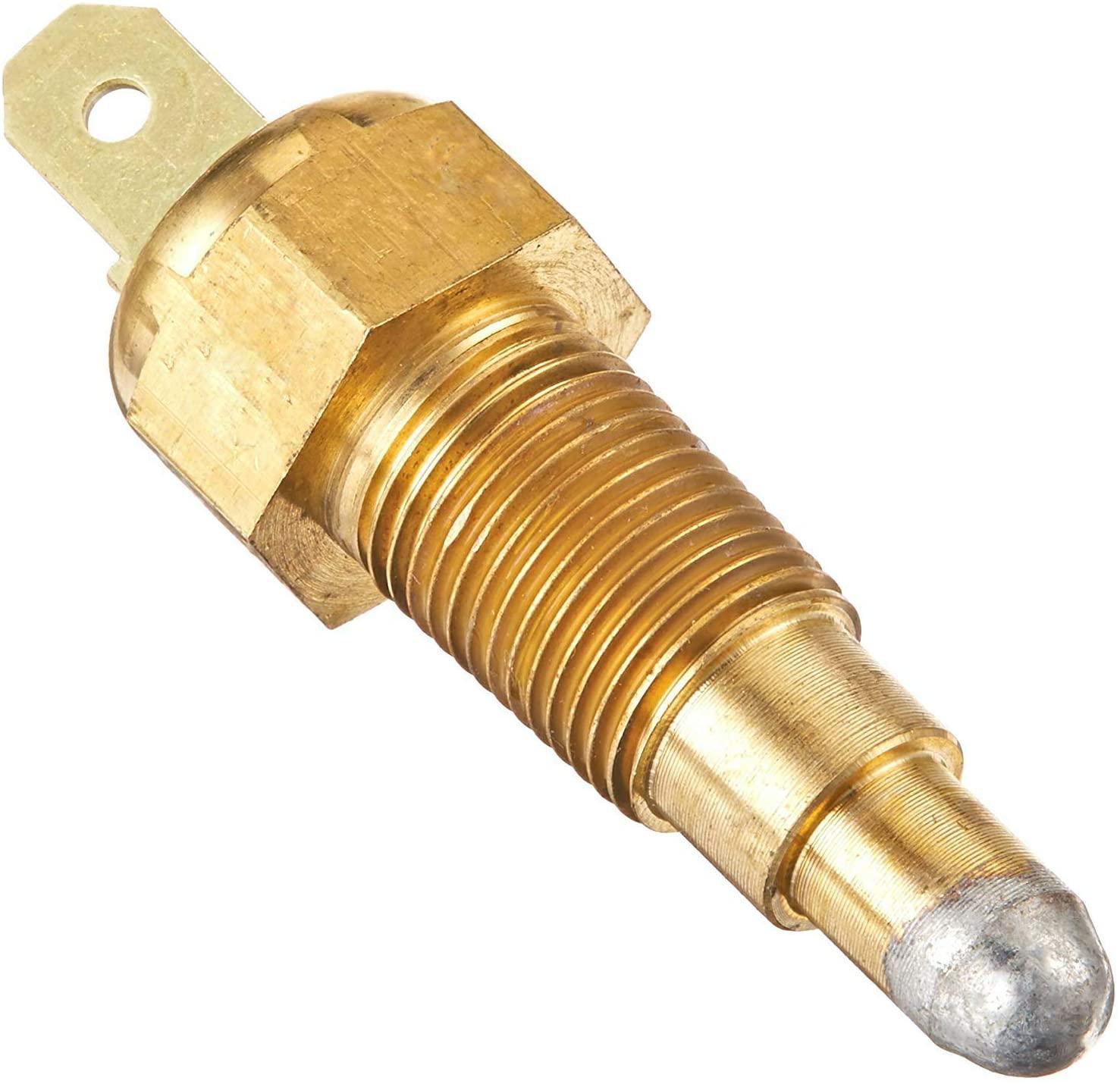 American Volt Ground Thermostat Switch Electric Radiator Fan Temperature Sensor Thread-in Engine Probe Kit (1/8