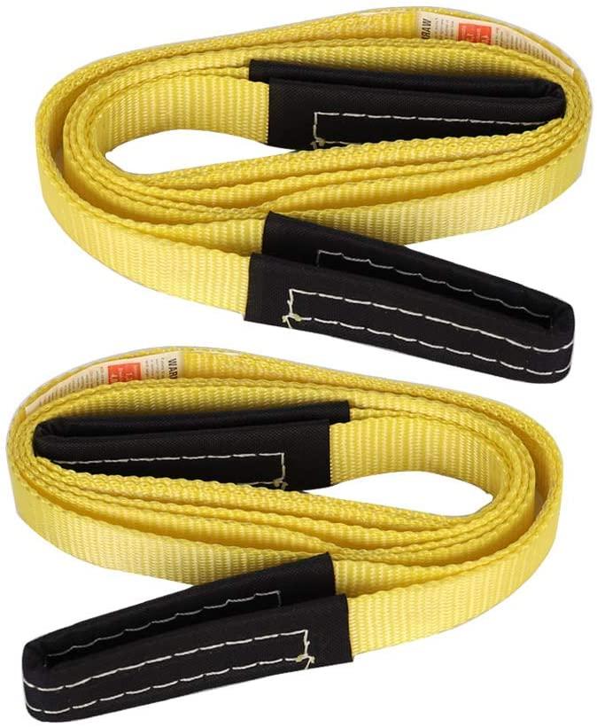 XSTRAP 2PK 8FT Lift Sling Web Strap/Wear Guard End