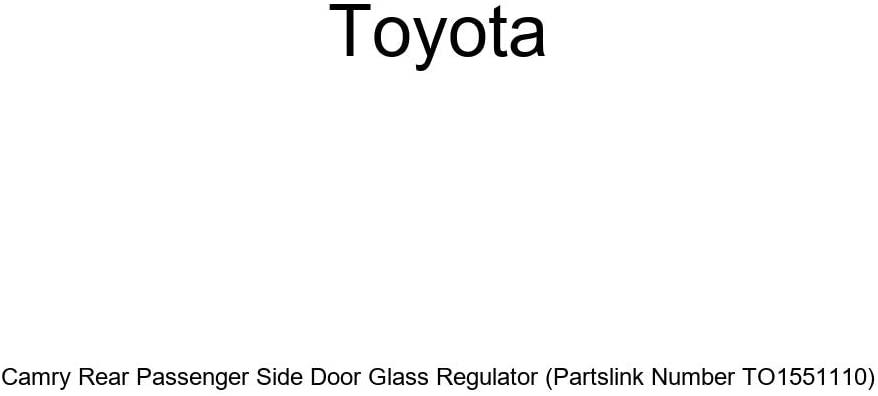 Genuine Toyota Camry Rear Passenger Side Door Glass Regulator (Partslink Number TO1551110)