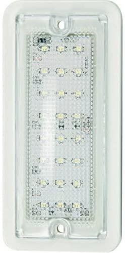 """5.75"""" Rectangular LED Dome Light /White Housing W/ Screws"""