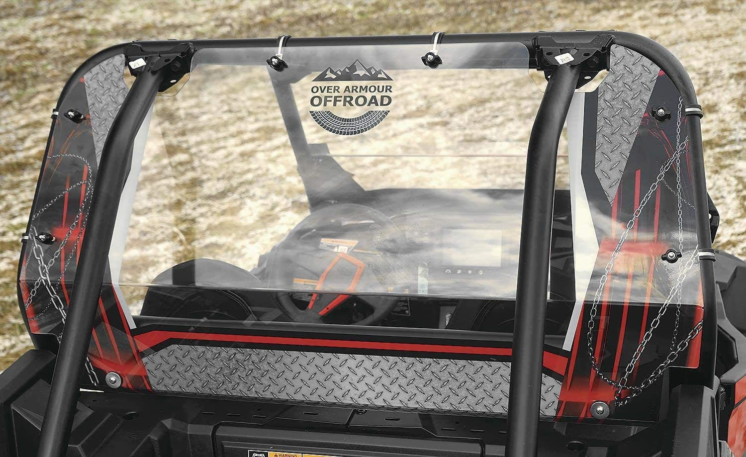 OVER ARMOUR OFFROAD PRINTED REAR PANEL RED XP 4 1000/TURBO 14-18, XP 1000/TURBO 14-18 PO-XPRZR-RD-T