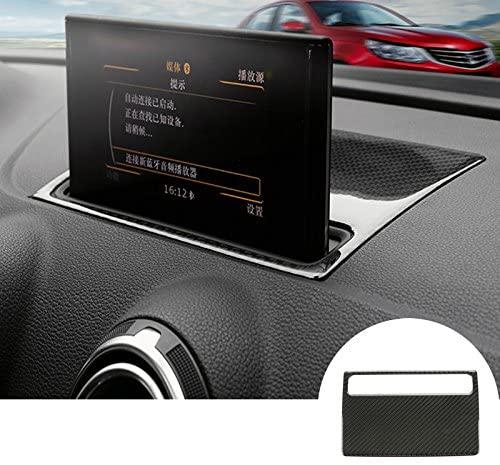 Carbon Fiber Center Dashboard GPS Navigation Trim Cover 1pcs for Audi A3 S3 2014-2018