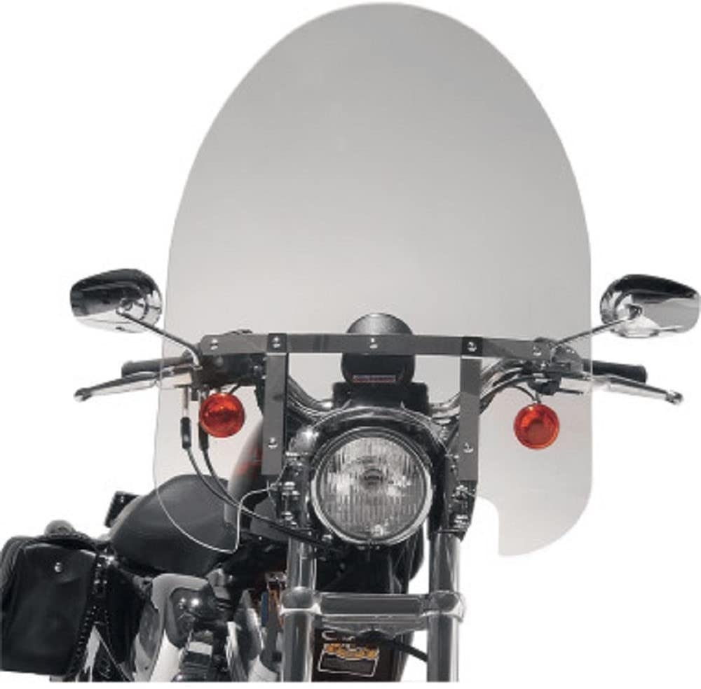 Slipstreamer 22in. Classic Windshield with Chrome Hardware - 22in. H x 23in. W - Smoke SS3022TQ