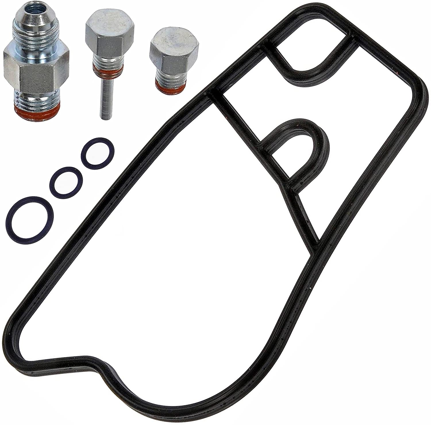 APDTY 138692 High Pressure Oil Pump HPOP Seal Kit Fits 1994-2013 International Diesel DT466 Engine (Includes 3 Fittings, 1 Gasket, and 3 O-rings; Replaces 1825685C1, 1842906C92)