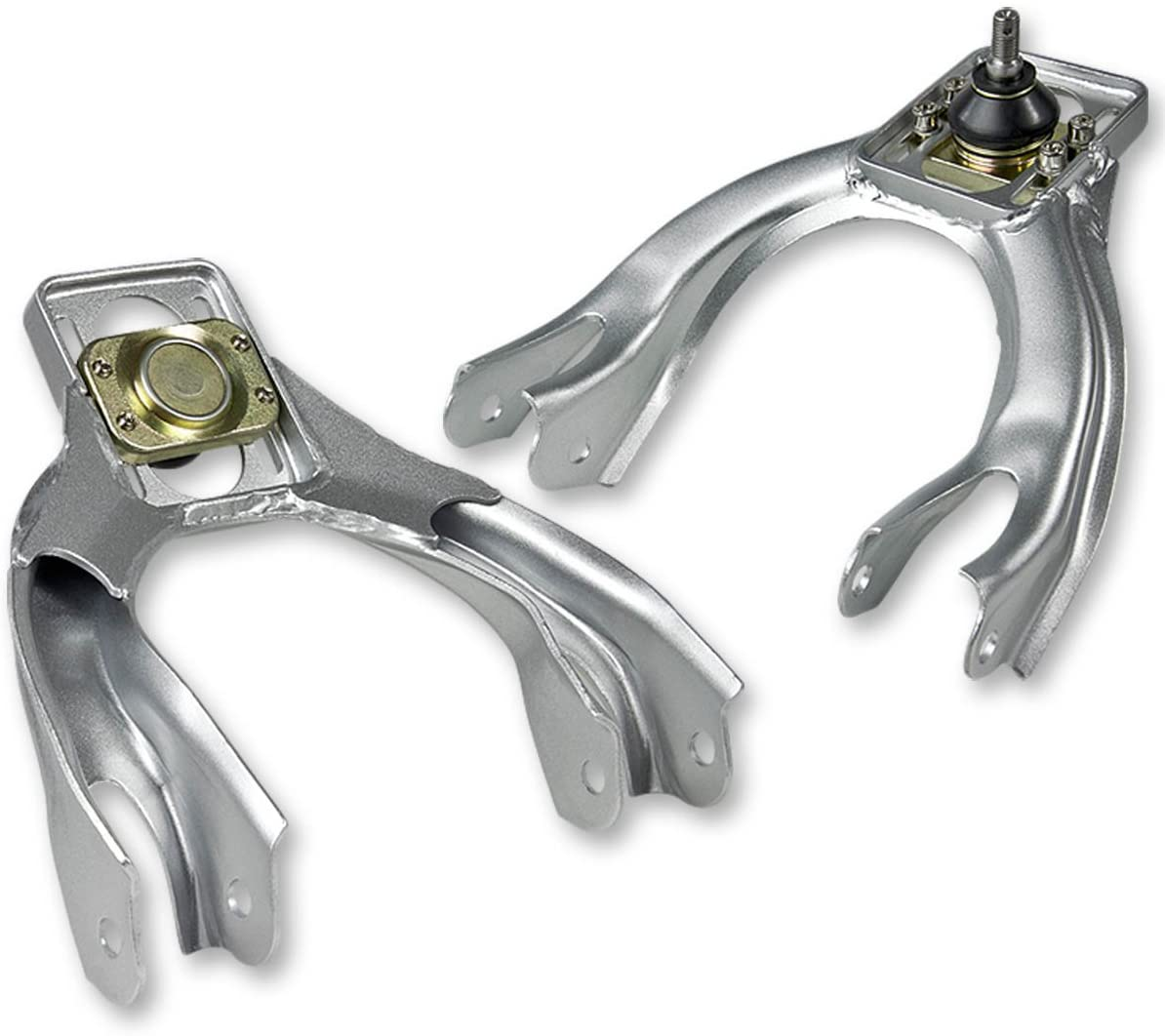 Replacement for 92-95 Honda Civic Performance Stainless Steel Adjustable Front Upper Camber Kit (Silver) - EG EH EJ