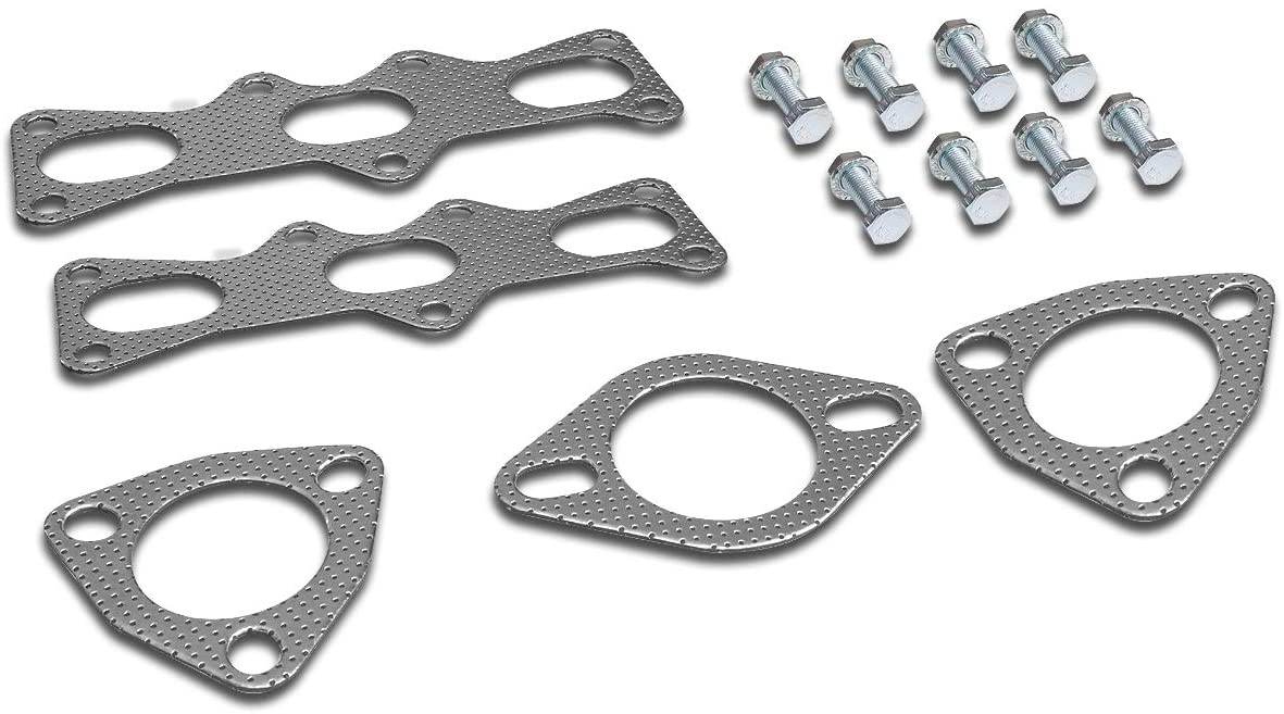 Aluminum Exhaust Manifold Header Gasket Set Replacement for 93-97 Ford Probe Mazda MX-6 2.5L V6