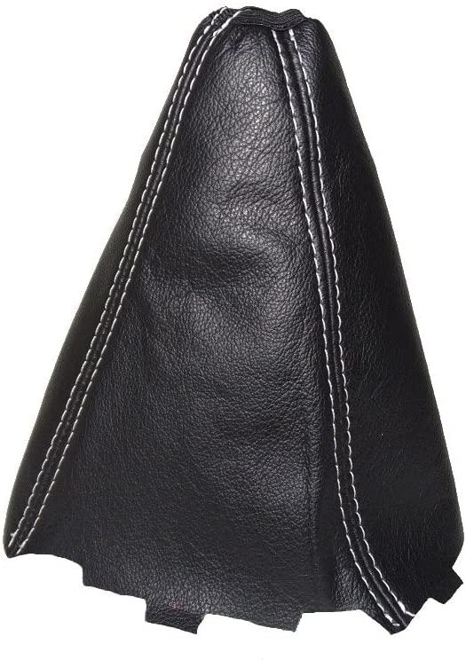 For Toyota Corolla E16 2013-16 Shift Boot Black Genuine Leather White Stitching