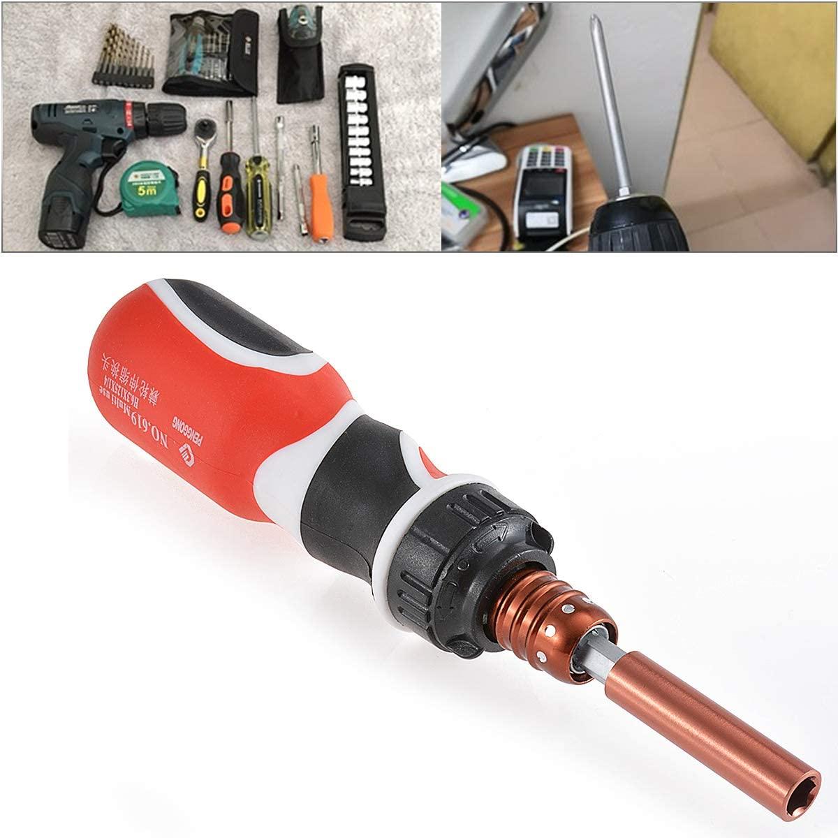 HOHXEN Ratchet Screwdriver Bit Telescopic Dual Purpose Adjustable For 1.41-3.7 Inch Magnetic Screwdrivers Precision Repairing Tool for Homework, DIY