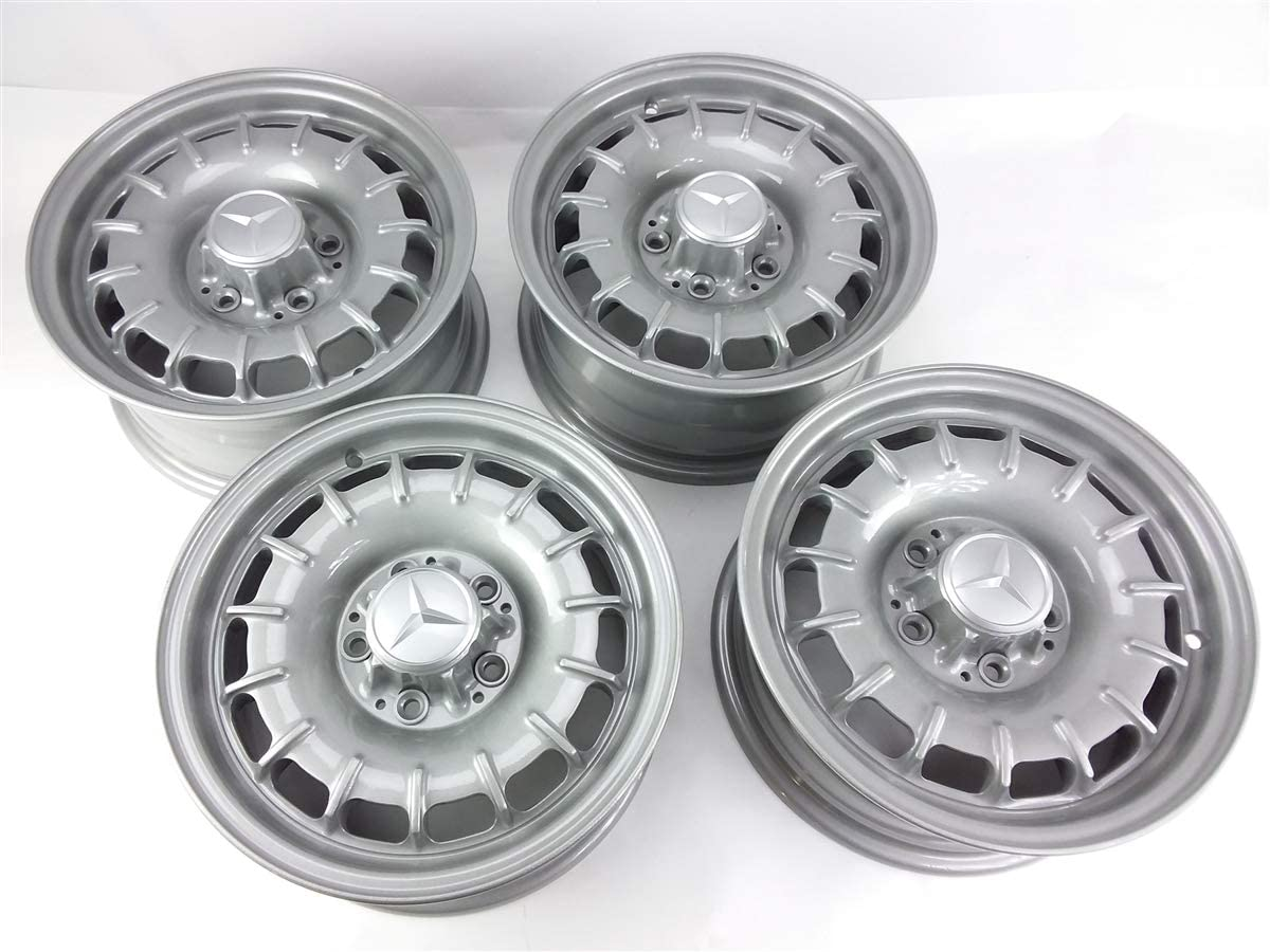 Genuine Mercedes-Benz Aluminum-Alloy Bundt Wheels 14x6 Powder-Coated OEM, Set of 4