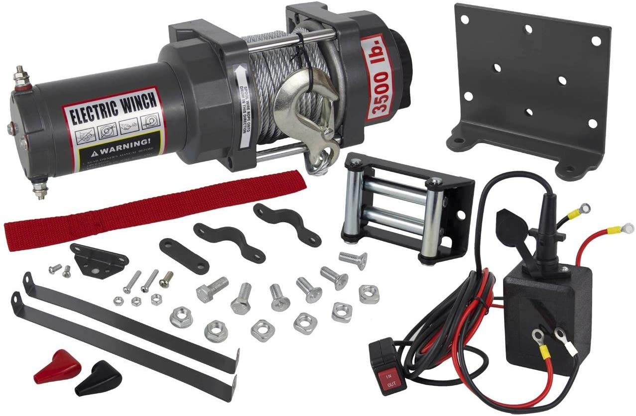 Rareelectrical NEW 3500lb ATV WINCH ASSEMBLY COMPATIBLE WITH 04-07 HONDA RANCHER 350/400 166:1 GEAR RATIO