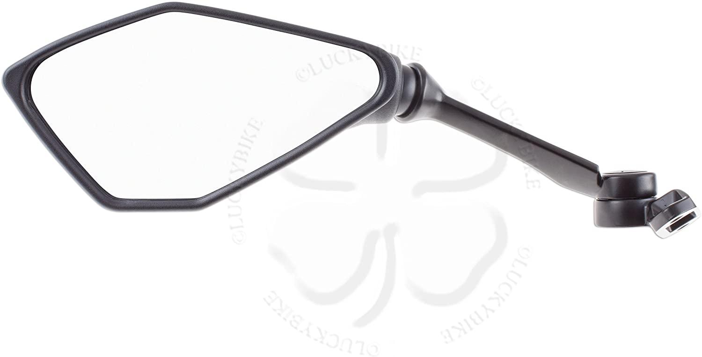 Left Rear View Mirror Side For Kawasaki Ninja ZX 636 ZX6R 13-19 6R Black Glass