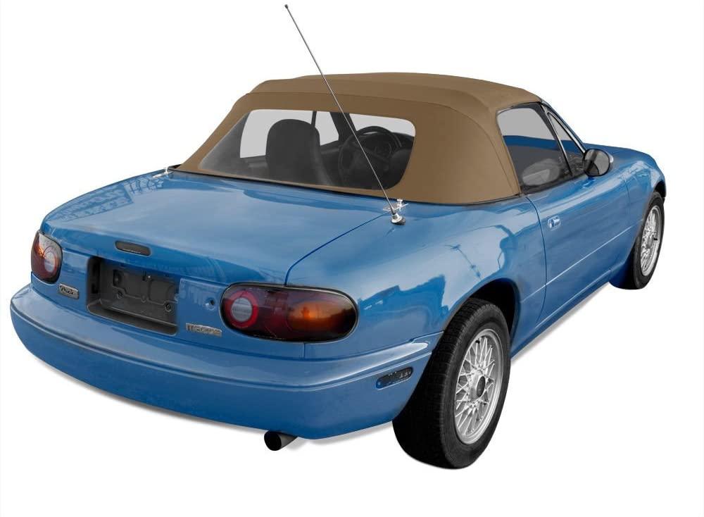 Mazda Miata Convertible Soft Top Light Tan Cabrio Vinyl Top With Plastic Window Heavy Duty Tops - House Deals