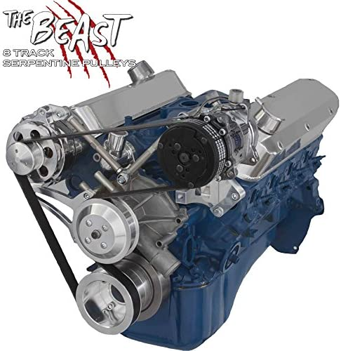 Serpentine Conversion Kit for Ford 5.8L, Alternator & AC Only (Reverse Rotation)