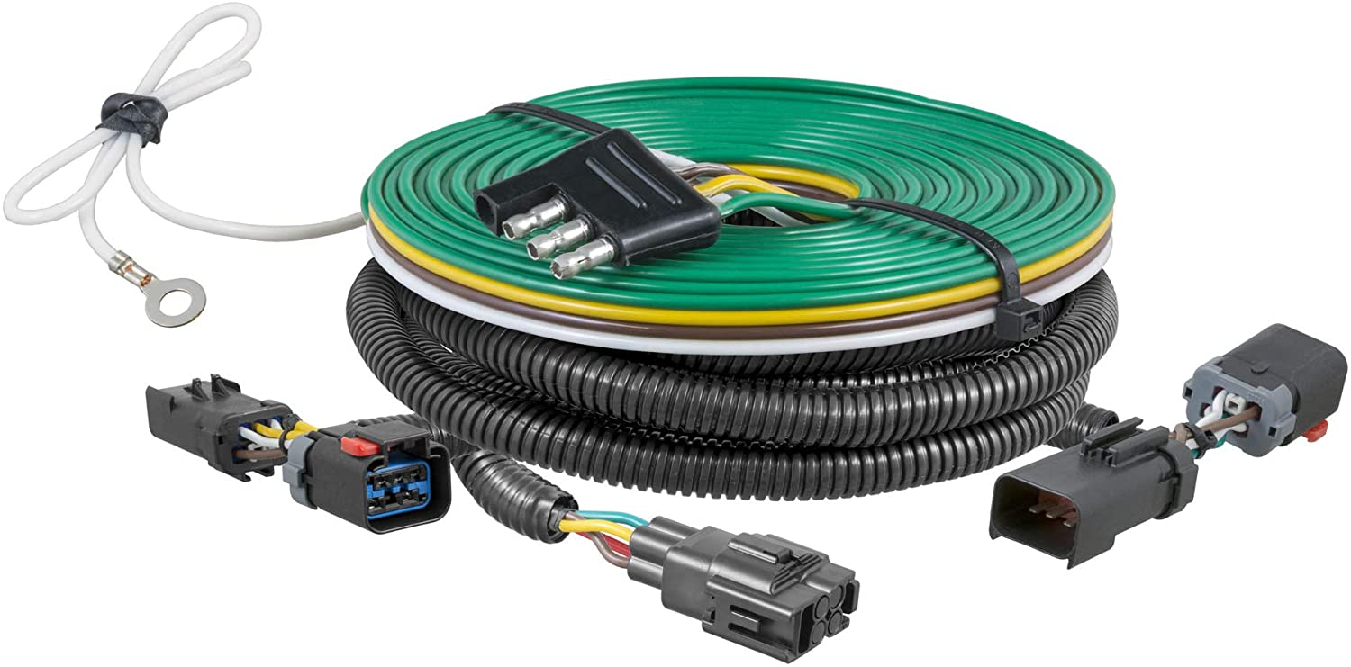 CURT 58915 Custom Towed-Vehicle RV Wiring Harness for Dinghy Towing, Select Jeep Grand Cherokee