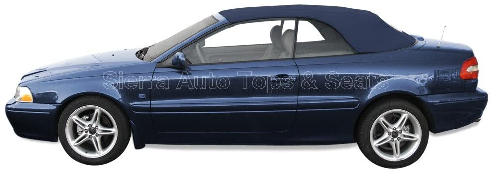 Sierra Auto Tops Convertible Soft Top Replacement, compatible with Volvo C70 Cabriolet 1998-2006, w/Heated Glass Window, Stayfast Canvas, Blue