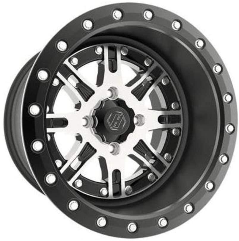 Hiper Wheel 1470-YDRCM-52-SBL-BK Desert Rat Wheel - 14x7-5+2 Offset - 4/110 - Machined