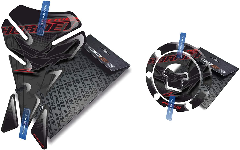 Fooqs Tankpad and Cappad V1 for Honda Hornet CB 500, CB 600, CB 900, CB 1000 (Black)