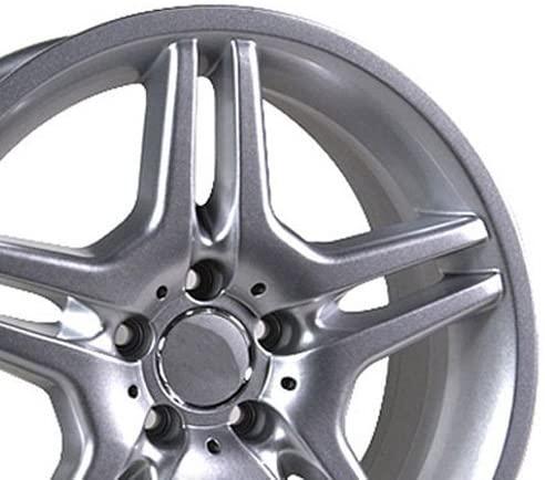 17-inch Fits Mercedes Benz - Aftermarket Wheel - Silver 17x7.5