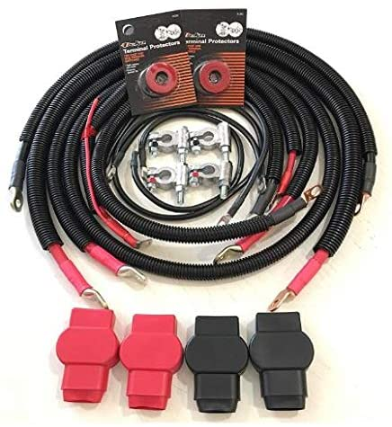 Battery Cable Set Kit for Dodge Ram 2500/3500 1998-2002 Gen 2.5 with 24 valve 5.9L Cummins
