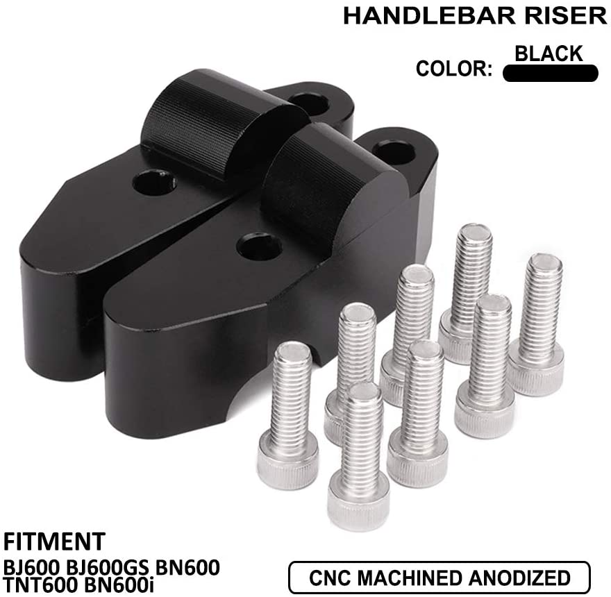 AnXin Handlebar Risers Motorcycle Accessories CNC Handlebar Lifts Bar Clamp Extend Adapter For Benelli BJ600 BJ600GS BN600 TNT600 BN600i