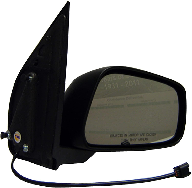 Dorman 955-1525 Passenger Side Power Door Mirror - Folding for Select Nissan Models, Black