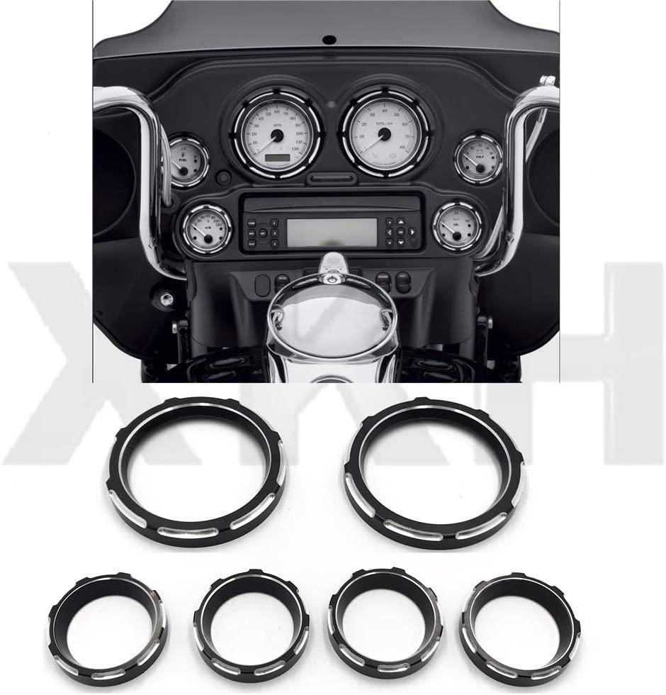 SMT- Instrument board Burst Gauge Bezel Compatible With Harley Electra Glide FLHTC FLHTCU FLHT [B07JQX5HND]